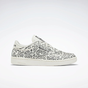 Reebok Men's Classics Keith Haring Club C Leather Shoes Chalk