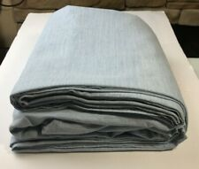 Hotel Collection Yarn-Dyed Teal Cotton 525 TC QUEEN Fitted & Flat Sheet Set 2pc