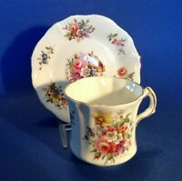 Hammersley Royal Worcester Spode Teacup And Saucer - Garden Flowers - England