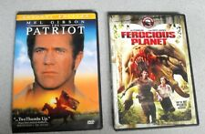 2 DVD'S WITH CASE - THE PATRIOT & FEROCIOUS PLANET DVD