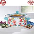6 Quart QT Portable Slow Cooker Breezy Blossom Crock Pot Small Kitchen Appliance photo