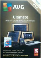 AVG Ultimate - Protect & Tune Up Unlimited Devices 1 Year  FREE SHIPPING