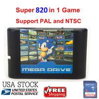 820 In 1 for Sega Genesis Mega Drive Game Cartridge 16-Bit Multi Cart Free Ship
