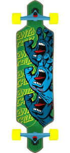 Santa Cruz Drop Thru Screaming Hand Stack Longboard Complete Board