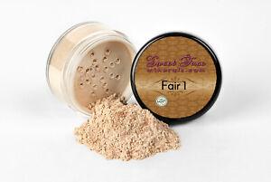 FAIR 1 FOUNDATION Mineral Makeup Matte Jar Bare Skin Sheer Natural Powder Cover