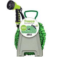 Treeco New Expandable Garden Water Hose kit 50 ft Kink-Free Triple Latex Set