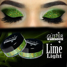 GlitterWarehouse Lime Light Green Holographic Loose Glitter Eyeshadow Powder
