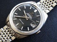 VINTAGE  1967   MEN'S  OMEGA  SEAMASTER   DATE CHRONOMETER  AUTOMATIC  SERVICED