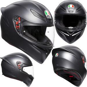 AGV Integralhelm K1 SOLID schwarz matt K1 Helm Motorradhelm Sporthelm