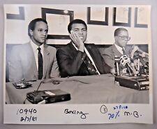 Muhammad Ali Original Vintage 1981 Press Conference 8x10 Photo