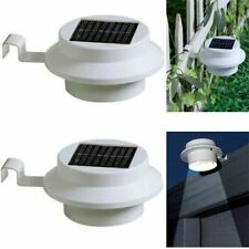 2PK Solar Power LED Gutter Spot Lights Outdoor Garden Fence Shed Wall Roof Lamp
