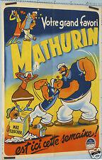 GRINSSON AFFICHE ANCIENNE FILM POPEYE MATHURIN circa 1950