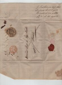 OTTOMAN SMIRNA TRIESTE DISINFECTED ENTIRE LETTER 1841