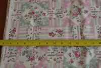 By 1/2 Yd, Red Green & Cream Patchwork on Light-Tan Quilting, Marcus, N129