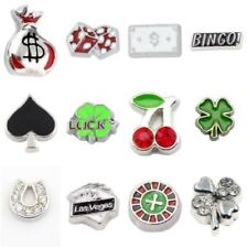 Floating Charm Bingo Casino Lucky Money Bag Clover Ace Charms for Memory Locket!