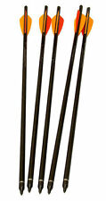 "5 X HEAVY DUTY CARBON 22"" CROSSBOW BOLTS Archery Arrow xbow darts aluminium"