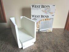 West Bend Bread Slicing Guide Bread Machine Maker Loaf, Meat Slicer, Folding