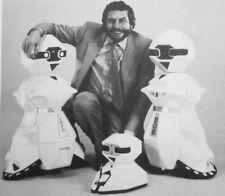 ANDROBOT clipping Nolan Bushnell robots B&W photo 1983 video-games Atari founder