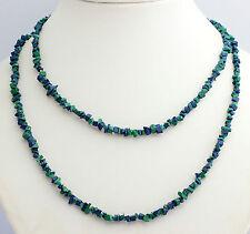 Malachit-Azurit (Behandelt) Splitterkette Edelsteine,Halskette,endlos,Grün,Blau