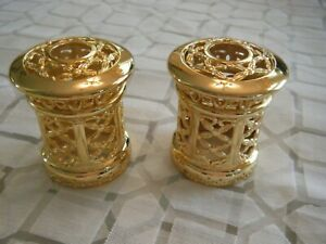 2 CATALYTIC FRAGRANCE OIL LAMP CROWNS-GOLD FILIGREE-FITS LAMPE BERGER & OTHER