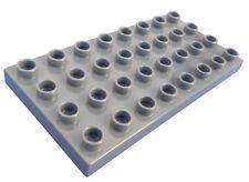 LEGO DUPLO gris foncé Panneau de Construction Plaque 4x8 32 PETITES BOSSES NEUF