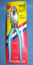 """Fuller 8"""" Linesman Side Cutting Pliers No. 194-8 Blue Handles - NEW"""