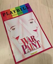 War Paint PlayBill June 2017 Pride Month OBC Patti LuPone Christine Ebersole