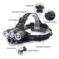 100000LM 5X XM-L T6 LED Headlamp Rechargeable Head Light Flashlight Head Torch A
