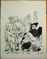 "Original Ink Artwork for 1930s French Children's Magazine - Soldiers, 8"" x 10"""