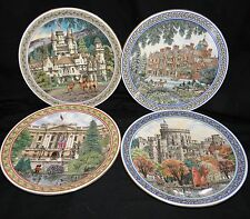ROYAL WORCESTER by SUE SCULLARD M.A.R.C.A.~ FOUR(4) ROYAL PALACES PLATES~Perfect