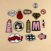 New Embroidered Iron On/ Sew On PATCH Lot Craft DIY Badge Bag Fabric #3 Combo