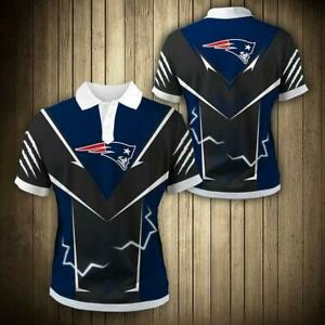 New England Patriots Summer Short Sleeve Shirt Casual Slim Fit Shirt Fans Gift