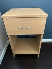 Wood Effect Bedside Cabinet Side Table NEW