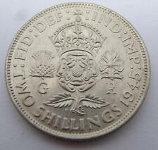 ***HIGH GRADE 1945 SILVER TWO SHILLINGS GEORGE VI COIN (326)***