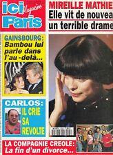 MAGAZINE *ICI PARIS FEVRIER 1994* MIREILLE MATHIEU GAINSBOURG CARLOS DOROTHEE)