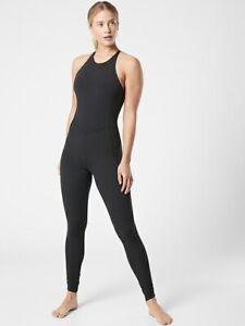 ATHLETA Pirouette Bodysuit in Powervita  L Large | Black #657898 NEW