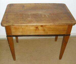 kleiner antiker Tisch, Beistelltisch, Wandtisch, Nähtisch, Biedermeier (1815-48)