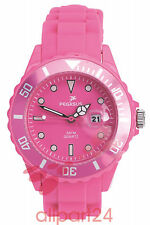 Pegasus Colour Watch Armbanduhr, pink 36 mm Wasserdicht bis 5 ATM NEU&OVP