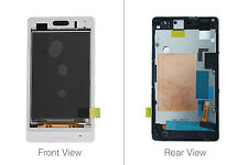 Genuine Sony ST27i Xperia Go White LCD Screen With Frame - 1264-8198