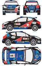 1/43 Decal Peugeot 207 S2000 #11 Rally Montecarlo 2011