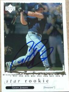 Geoff Jenkins Autographed 1998 Upper Deck #586