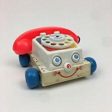 Fisher Price Vintage 1985 Rotary Telephone Toy Phone Moving Eyes Bell Noise