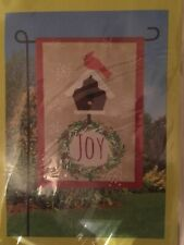 Meadow Creek 'Joy Cardinal' 12.5� X 18� Decorative Everyday Burlap Garden Flag