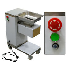Commercial Meat Slicer Meat Cutting Machine Cutter 500kg/Hour 0.55Kw W/Wheels