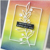Botanical Branch Frame Dies Foliage Metal Cutting Dies Craft Scrapbooking Album