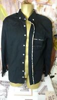 MENS BURBERRY LONDON DESIGNER BLACK LONG SLEEVE SHIRTS SIZE 3XL/MADE IN UK  DI