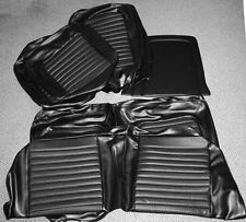 NEW! 1968 Ford Mustang Seat covers Upholstery Buckets Black Coupe full set