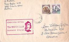 ITALIAN PASSENGER SHIP TS RAFFAELO A SHIPS CACHED COVER