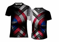 NEW MENS SOFT TOUCH TEE CAPTAIN AMERICA SHIELD T-SHIRT US/UK FIT&SIZES