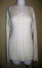 Ava & Viv – 1X – V-neck – cream colored – tunic length sweater – NWOT